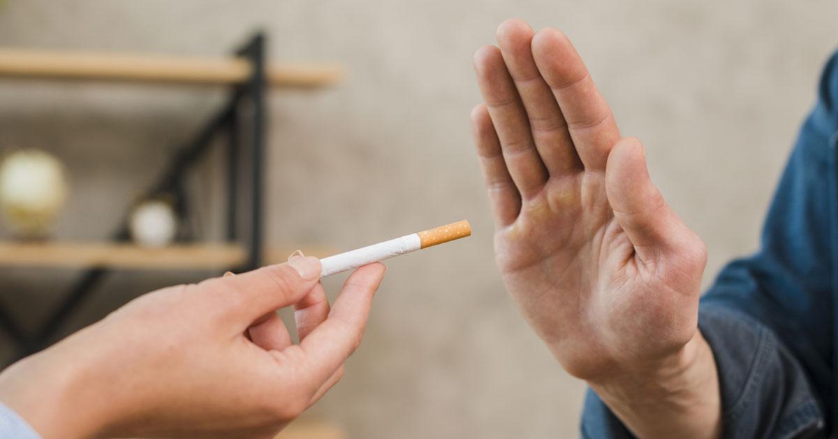 Ao deixar o tabagismo a pessoa ganha saúde e qualidade de vida